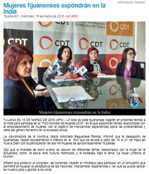 'Mujeres tijuanenses expondrán